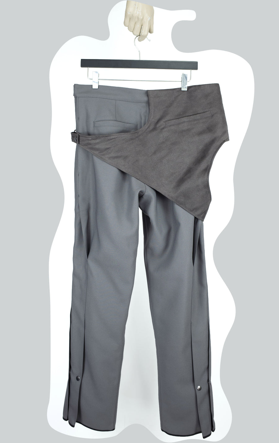 00092020 REVERSIBLE PLEAT OVERALLS GREY