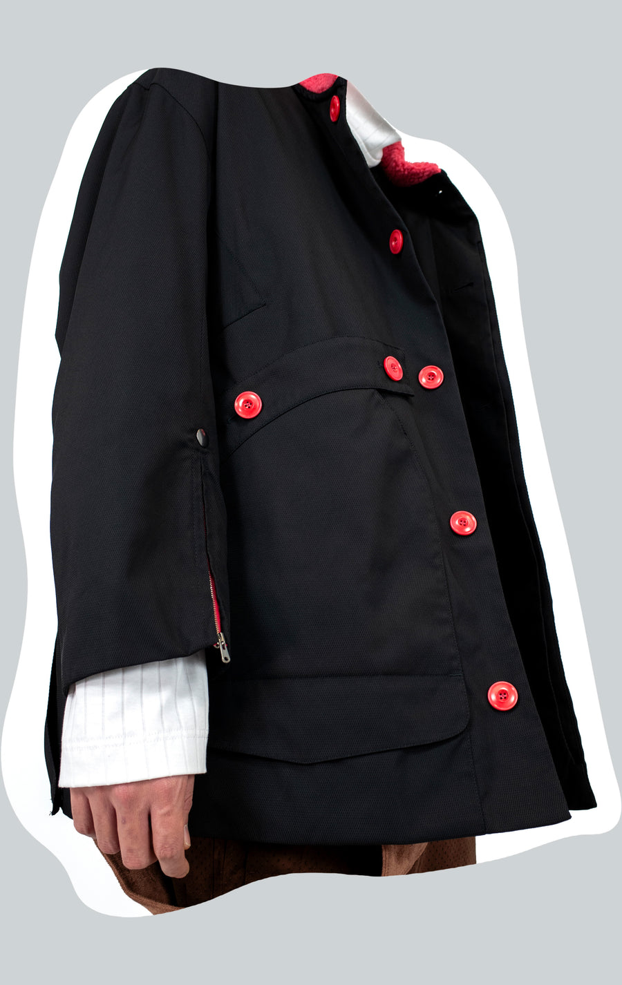 00092020 NASH HUNTING COAT BLACK CORAL