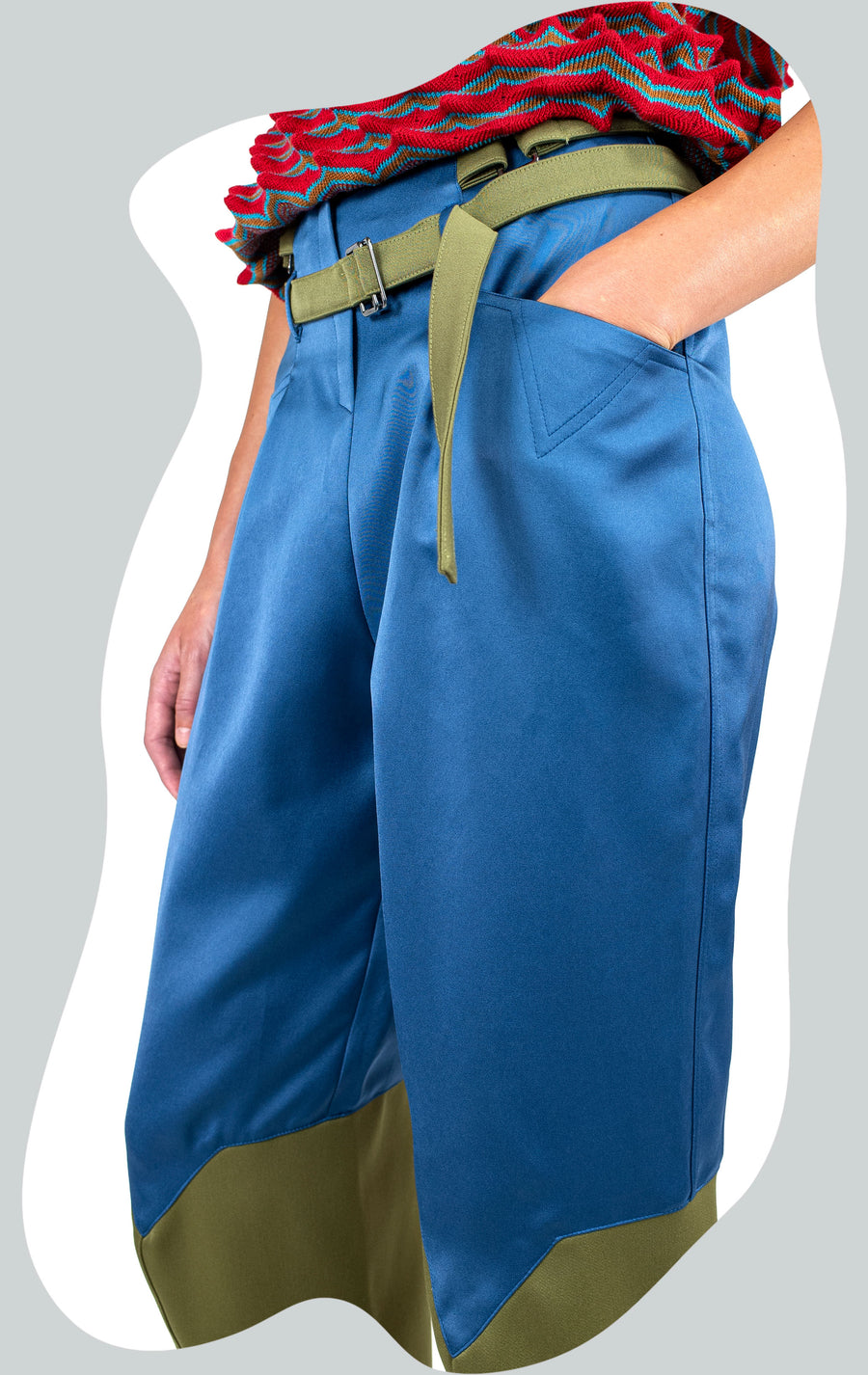 TRIGON PLEATED TROUSER BLUE AW20