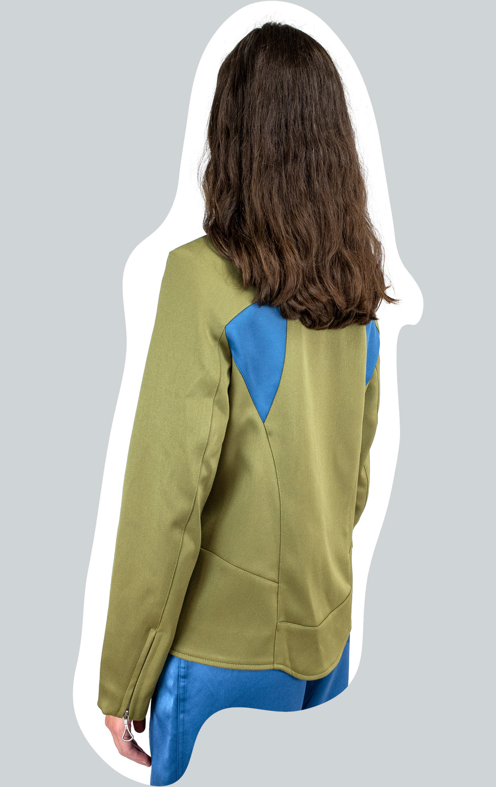KIKO KOSTADINOV DARTED SHOULDER JACKET GREEN AW20