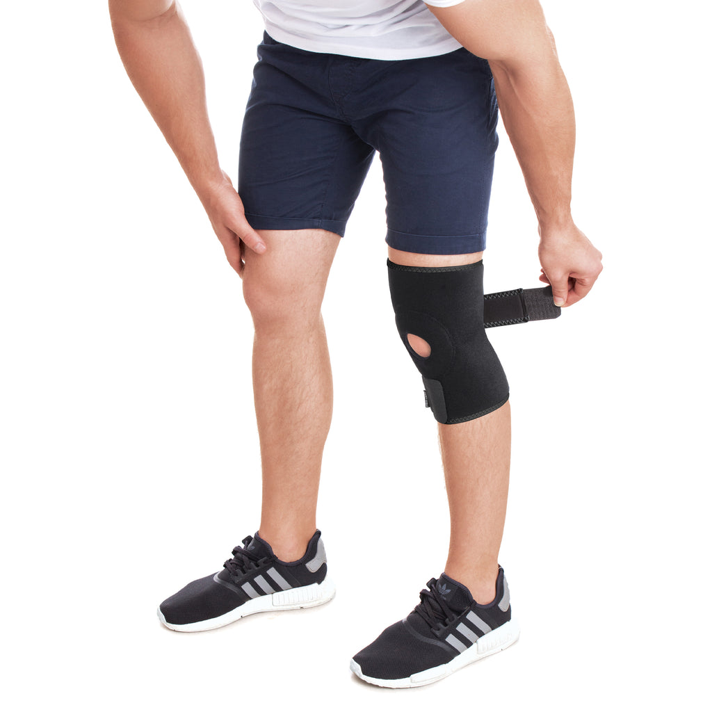 Adjustable Neoprene Knee Compression and Support Brace Wrap