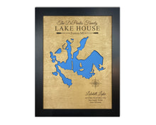 Load image into Gallery viewer, Custom Lake, River, Coastline, or Island Map - 5th Anniversary Gift, Custom Lake Map, Custom Map Art, Gifts for lake, Housewarming, Lake House Decor, Lake House Gift, Lake signs, Lakehouse gi