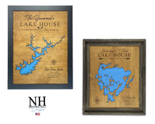 Load image into Gallery viewer, Lake Ossipee, New Hampshire Lake House Decor, Personalized, Lake House Map, House Warming Gift