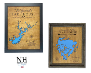 Lake Andes SD, Lake House Decor, Personalized, Lake House Map, House Warming Gift