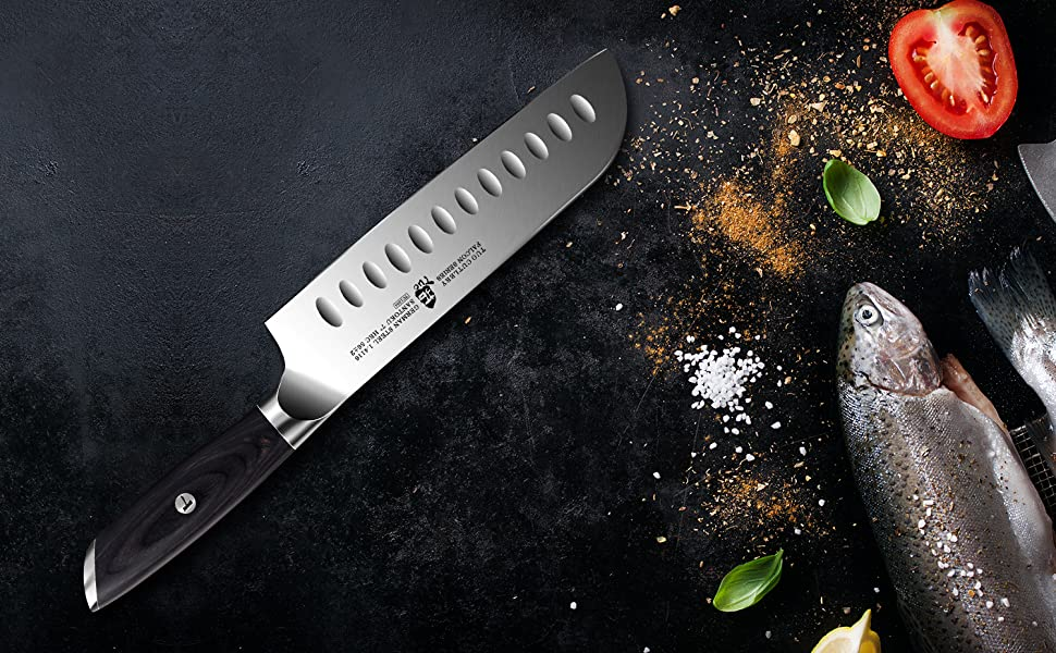 Santoku Knife: Professional Chef Knife - All Purpose Knife