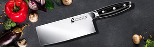 Easy To Deal With Meat And Vegetable By Black Hawk 7'' Cleaver
