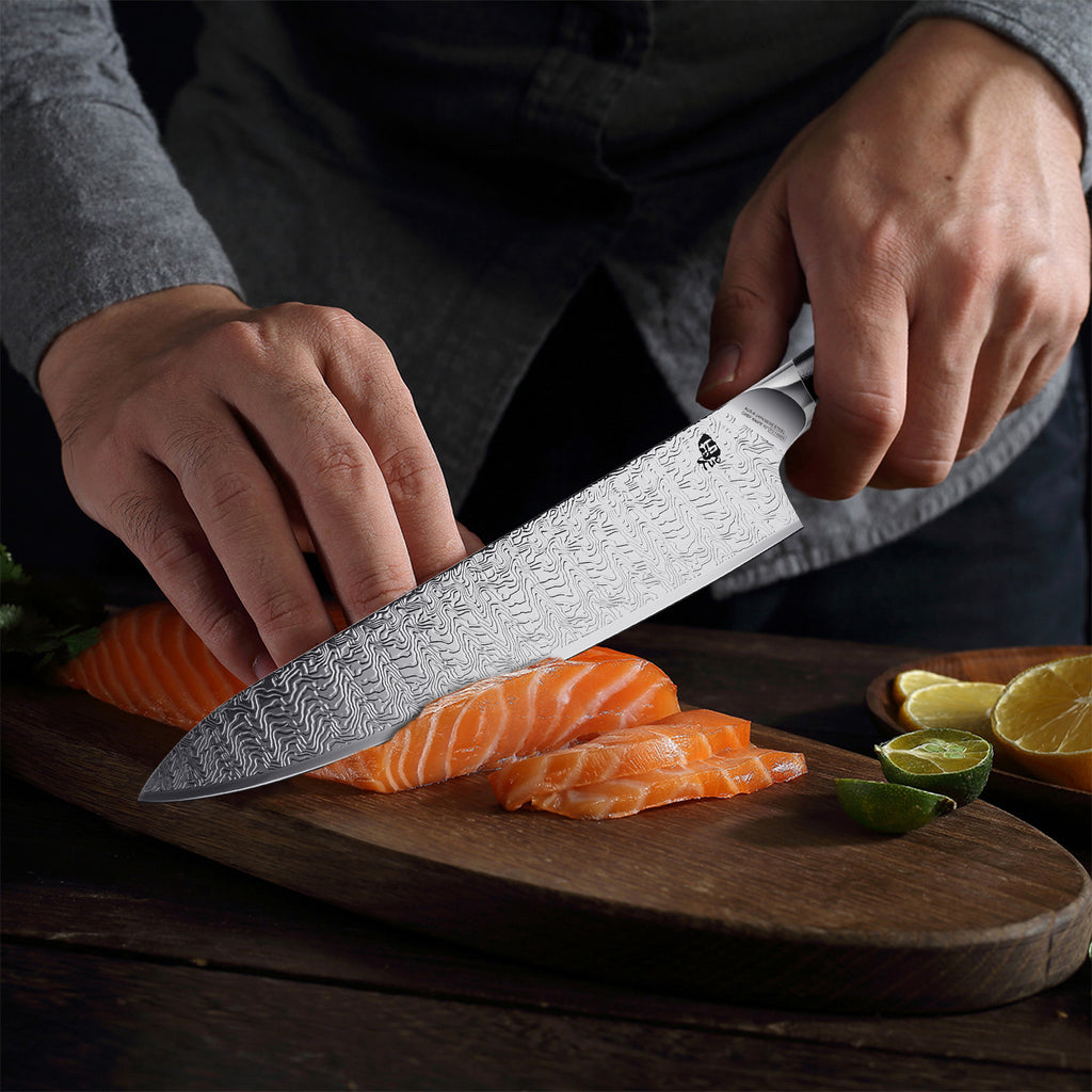 Tuo Cutlery, Professional Chef Knife, Kitchen Knife, High Carbon Stainless Steel, Sharp blade, Gyuto, Full Tang, Chef's Knife, G10 Handle