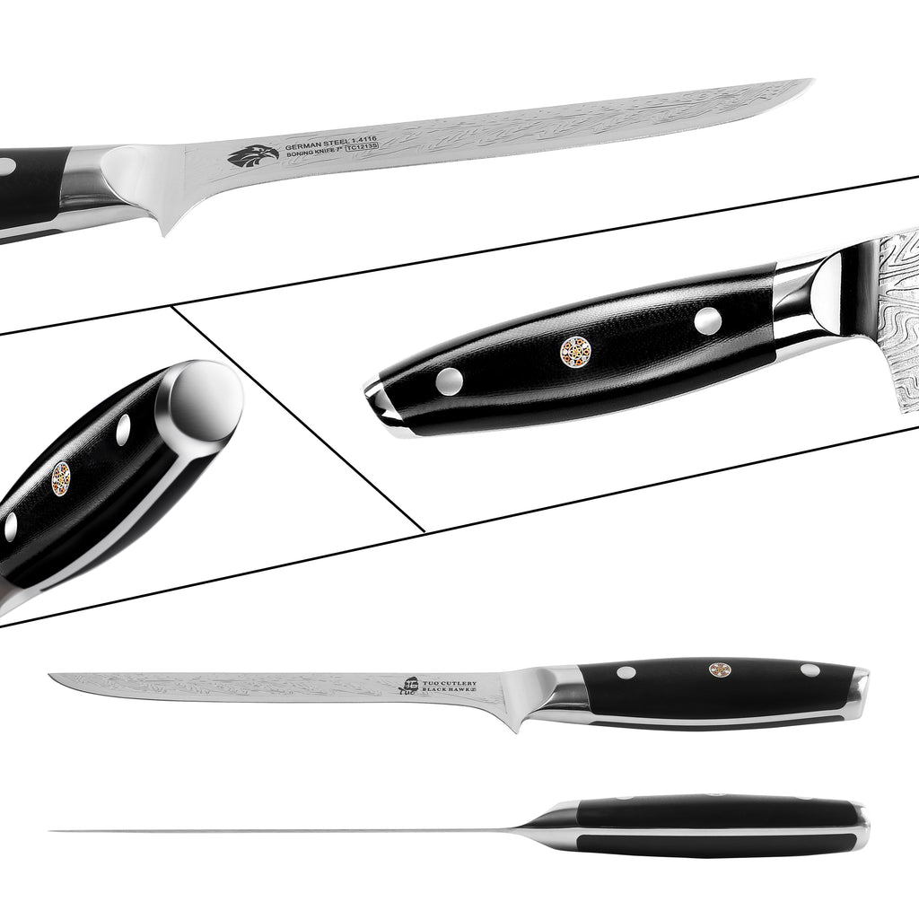 boning knife, meat knife, long knife, tuo cutlery, kitchen knives, cutlery, fillet knife