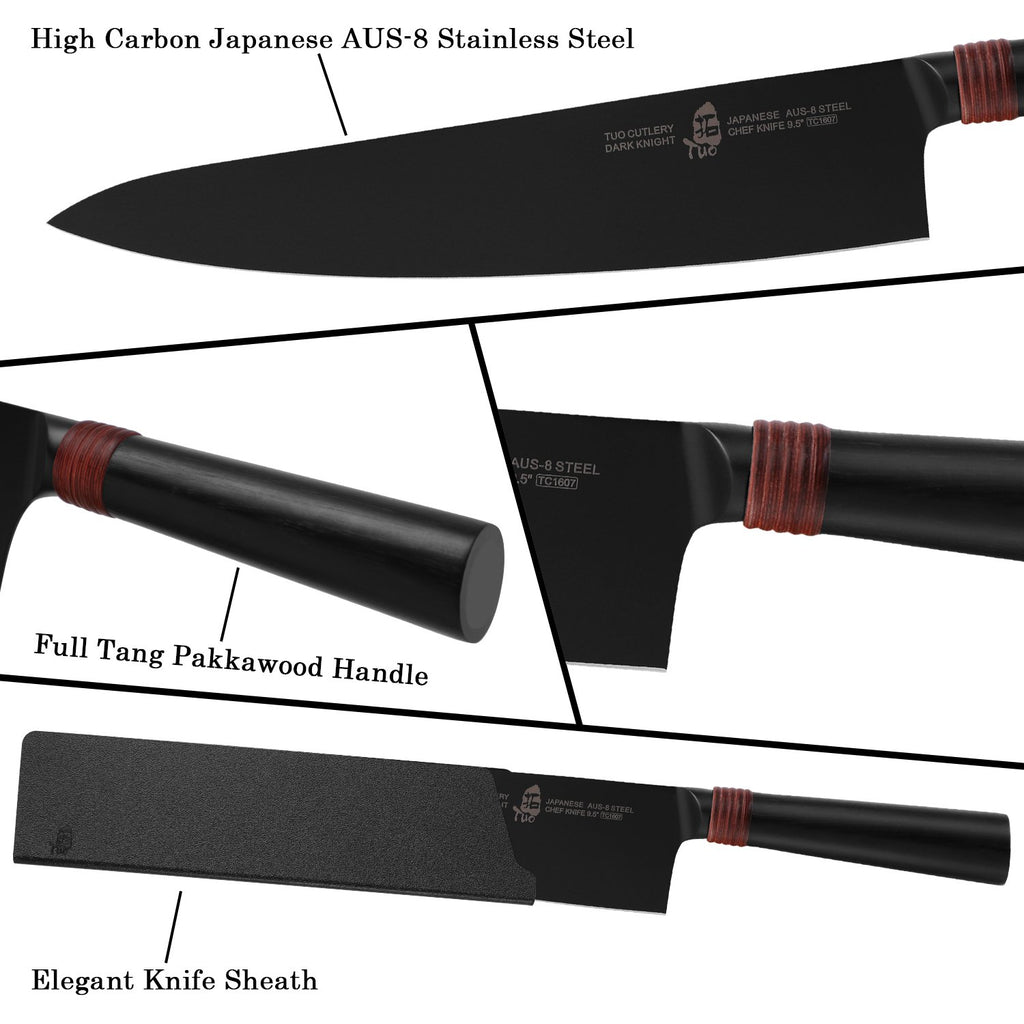 chef knife, dark knight knife, tuo knife, tuo cutlery
