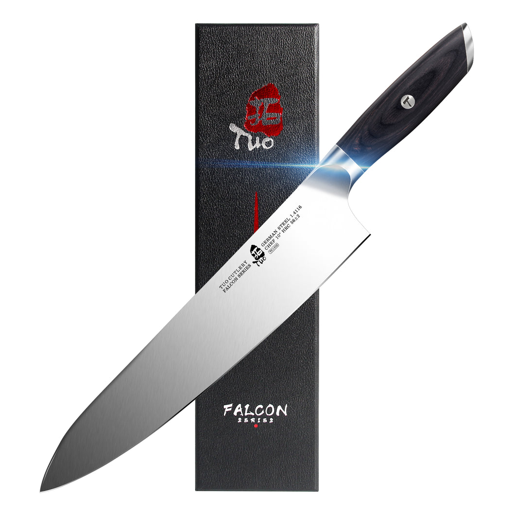 Tuo Cutlery, Professional Chef Knife, Kitchen Knife, High Carbon Stainless Steel, Sharp blade, Gyuto, Full Tang,	Chef's Knife, Pakkawood Handle