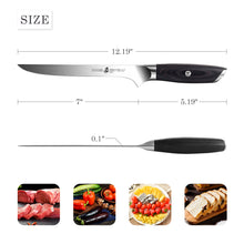 Load image into Gallery viewer, Tuo Cutlery, Boning Knife, Meat Knife, Premium High Carbon Stainless Steel, Full Tang, Ergonomics handle, Professional Kitchen Knife, Fillet Knife, Super Sharp Blade, Cookware