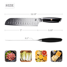 Load image into Gallery viewer, TC1304S Santoku 7''