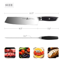 Load image into Gallery viewer, Tuo Cutlery, Kiritsuke Knife, Japanese Knife, Professional Chef's Knife,Premium High Carbon Stainless Steel, Full Tang, Ergonomics handle, Vegetable Meat Kitchen Knife, Cookware, Kitchenware, Super sharp blade