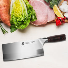 Load image into Gallery viewer, Tuo Cutlery, Cleaver Knives, Chopper, Chopping Knife, Professional Kitchen Knives, Vegetable and Butcher Knife, Chinese Chef's Knife, Meat Knives, Premium High Carbon Stainless Steel, Full Tang