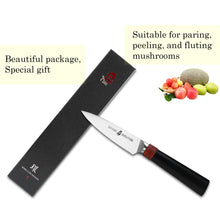 Load image into Gallery viewer, Tuo Cutlery, Peeler, Paring Knife, peeling knives, flaying knife, debarking knife, vegetable knives, fruit knife, sharp blade, High Carbon Stainless Steel, Full Tang