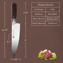 Load image into Gallery viewer, Tuo Cutlery, Professional Chef Knives, Kitchen Knives, High Carbon Stainless Steel, Razor sharp edge, Gyuto, Full Tang, Chef's Knives, Pakkawood Handle