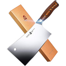 Load image into Gallery viewer, Tuo Cutlery, Cleaver Knife, Chopper, Chopping Knife, Professional Kitchen Knife, Vegetable and Butcher Knife, Chinese Chef's Knife, Meat Knife, Premium High Carbon Stainless Steel, Full Tang