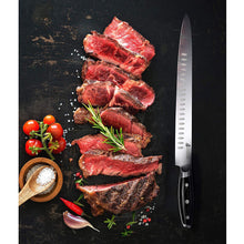 Load image into Gallery viewer, Tuo Cutlery, Slicing Knives, Slicer, Carving Knives, Meat Knives, Kitchen Knife, High Carbon Stainless Steel, Sharp blade, Full Tang
