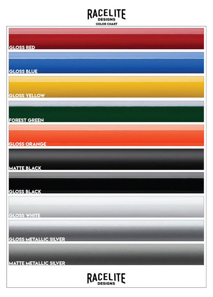 Racelite Designs Graphic Color Chart
