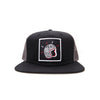 Racelite Designs Lightning Bolt Flat Brim Black/Charcoal Hat Front View