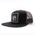 Racelite Designs Lightning Bolt Flat Brim Black/Charcoal Hat Side Angle