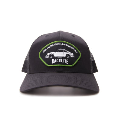 Racelite Designs Heart Of Air-Cooled Black Woven Patch 6 Panel Hat 2