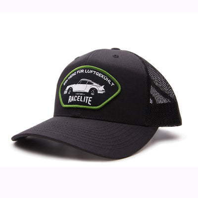 Racelite Designs Heart Of Air-Cooled Black Woven Patch 6 Panel Hat 1