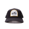 Racelite Designs Moto Black Woven Patch 6 Panel Hat Product View 2