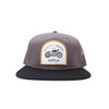 Racelite Designs Moto 6 Panel Flat Brim Snap Back Hat Front View