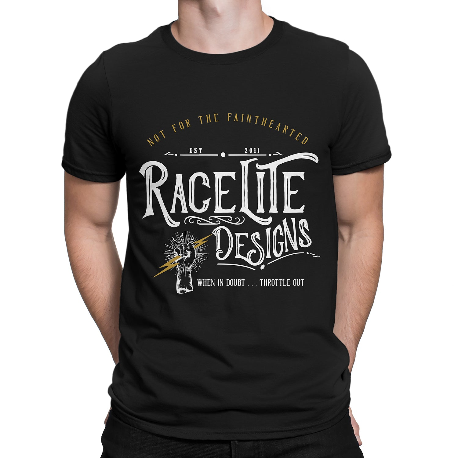 Racelite Designs Not For The Fainthearted Short Sleeve Front Model View