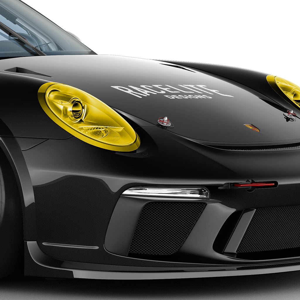 Racelite Designs Porsche Yellow Headlamp Kit