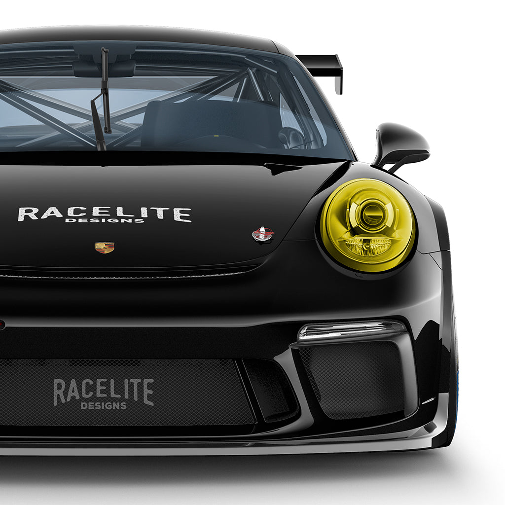 Racelite Designs Porsche 911 Yellow Headlamp Film Covers Product Description 2