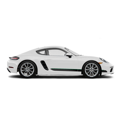 Racelite Designs Porsche Cayman 718 Classic RS Stripe Kit Forest Green - Matte Black