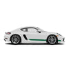 Racelite Designs Porsche Cayman 718 Classic RS Stripe Kit Gloss Metallic Silver - Forest Green