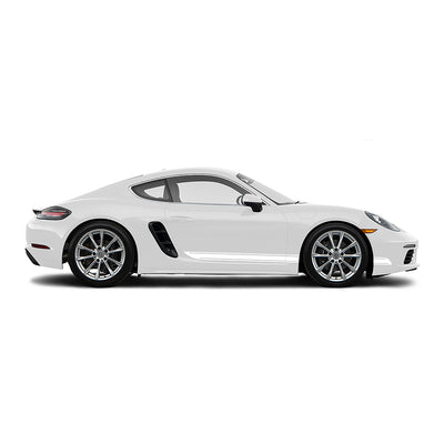Racelite Designs Porsche Cayman 718 Classic Stripe Kit Gloss White