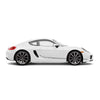 Racelite Designs Porsche Cayman 981 Checkered Flag Stripe Kit Gloss Metallic Silver