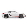 Racelite Designs Porsche Cayman 981 Checkered Flag Stripe Kit Gloss Red