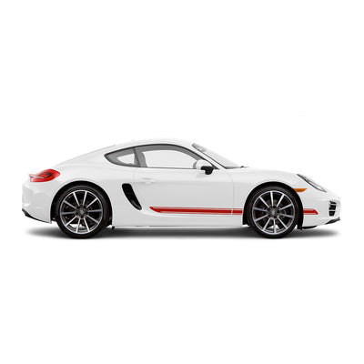 Racelite Designs Porsche Cayman 981 Classic Stripe Kit Gloss-Red-View 1