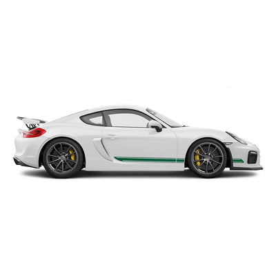 Racelite Designs Porsche Cayman GT4 Classic Stripe Kit Forest Green