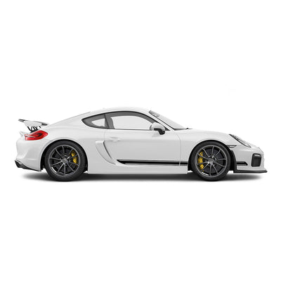 Racelite Designs Porsche Cayman GT4 Classic Stripe Kit Gloss Black