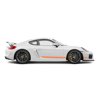 Racelite Designs Porsche Cayman GT4 Classic Stripe Kit Gloss Orange