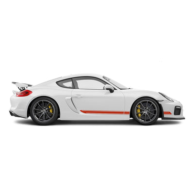 Racelite Designs Porsche Cayman GT4 Classic Stripe Kit Gloss Red