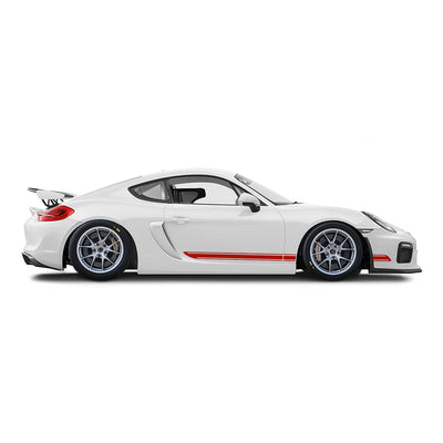 Racelite Designs Porsche Cayman GT4 Clubsport Classic Stripe Kit Gloss Red