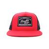 Racelite Designs Speedware Collection Red Flat Brim Front View