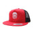 Racelite Designs Skull Racer Red/Black Flat Brim Product View 1