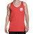 Racelite Designs Skull Racer Tank Top Front Model View