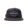 Racelite Designs Authentic Speedware Black Flat Brim Front View
