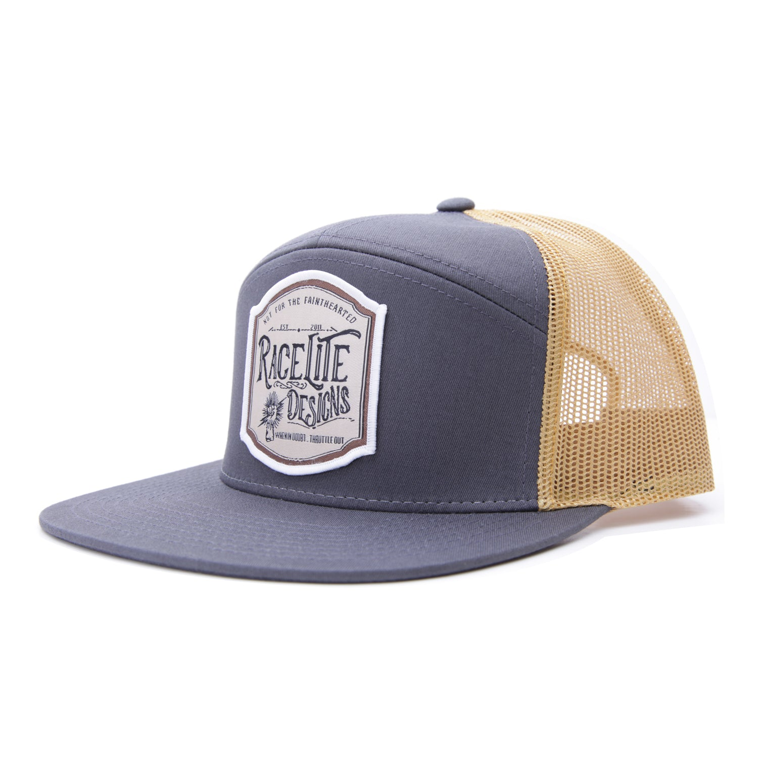 Racelite Designs Not For The Faint Hearted 7 Panel Hat Side View