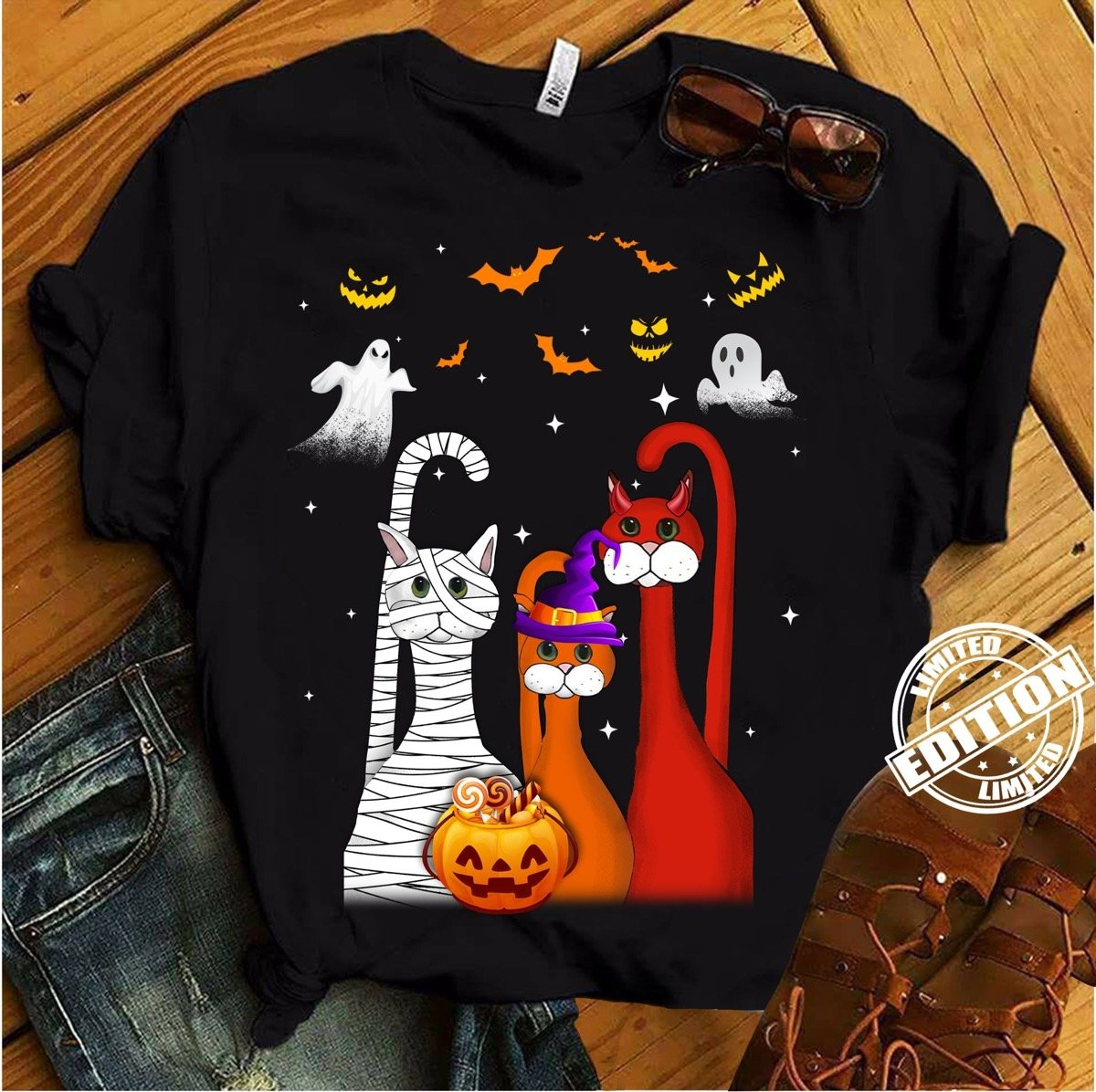Cat Halloween Charming T-Shirt 14