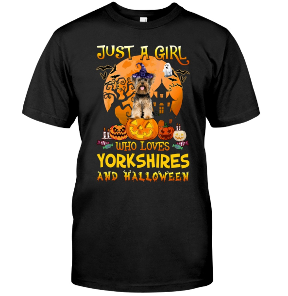 Just A Girl Loves Yorkshires And Halloween